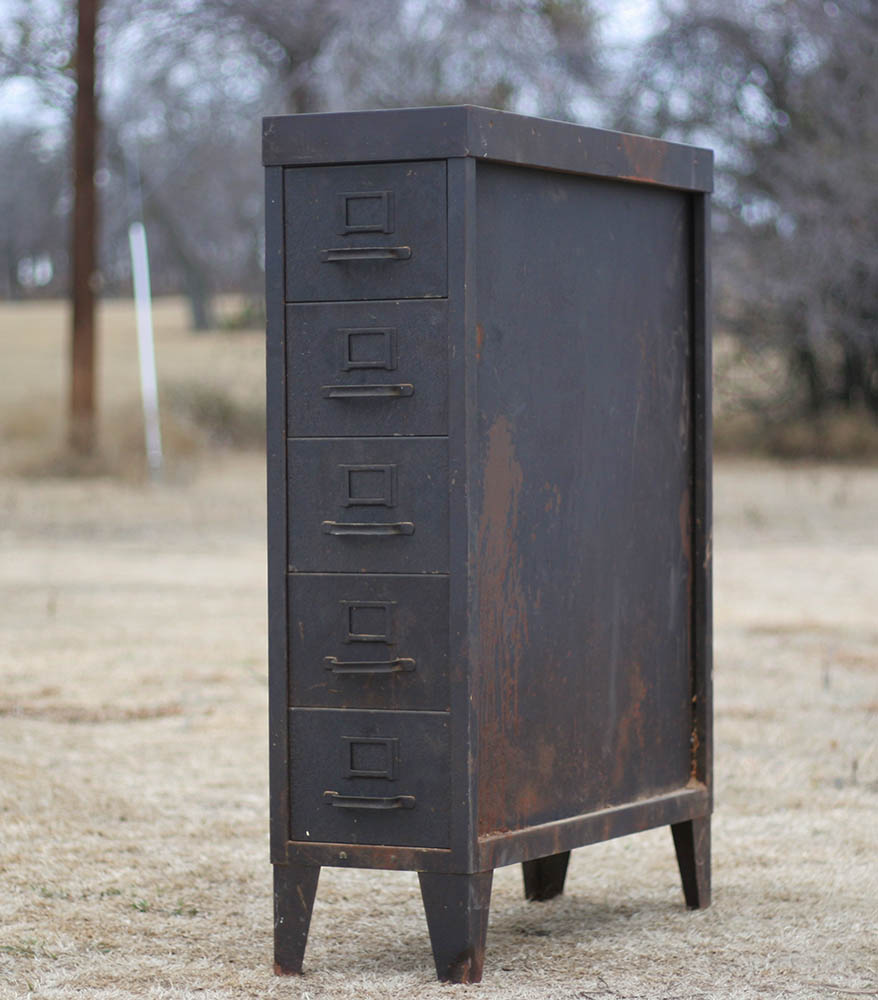 filing cabinet - Salvage77.com » Vintage Medium Size Industrial Filing Cabinet