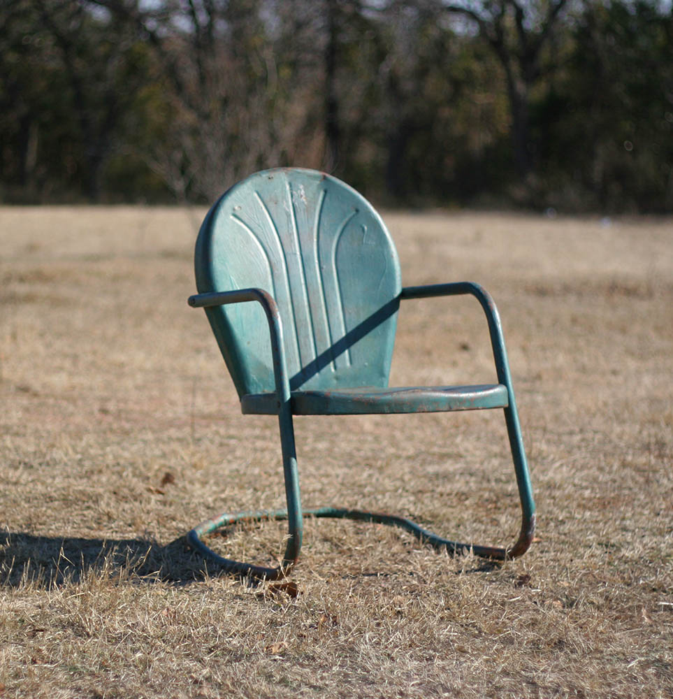 Salvage77 Vintage Metal Lawn Chair