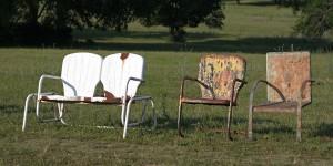 glider - rocker - spring steel chair