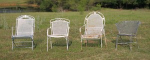 mid century style lawn chairs