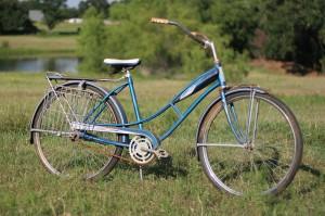 1950s bike blue