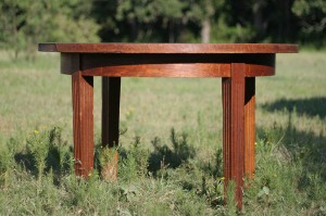 round oak dining table 01