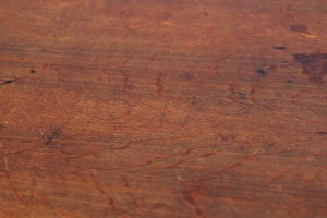 round oak dining table detail 01