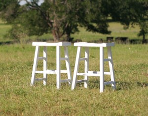 shaby chic stools