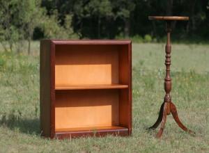 bookshelf and stand
