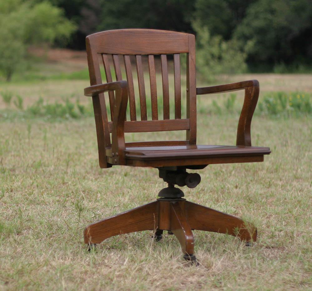 oak office chair antique wood office chair