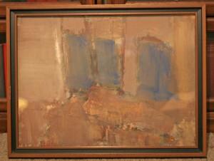 Jesus mid century painting