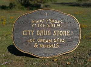 city drug store sign 01