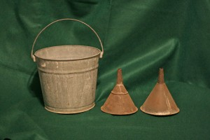 bucket and funnels
