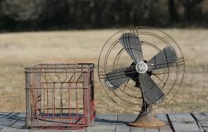 fan and milkcrate
