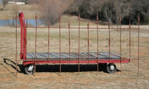 six foot section metal fence