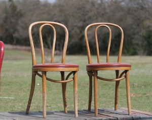 bent wood icecream shop chairs