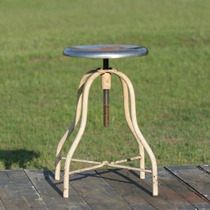 creme industrial stool
