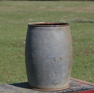 galvanized barrel large