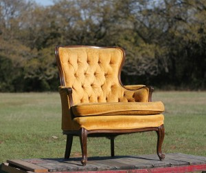 vintage yellow chair