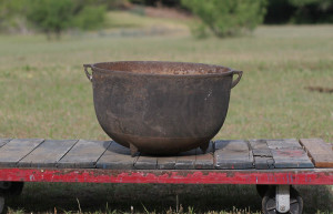 cast iron wash pot
