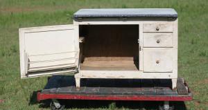 hoosier cabinet open