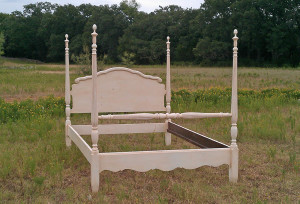 shabby chic 4 poster bed