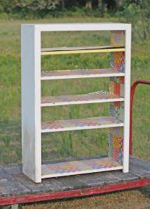 shabby farm shelves