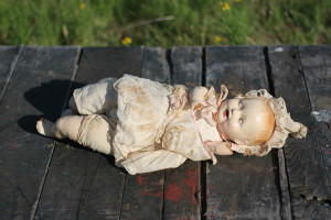 vintage doll and dress