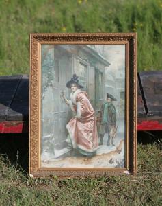 vintage frame and print
