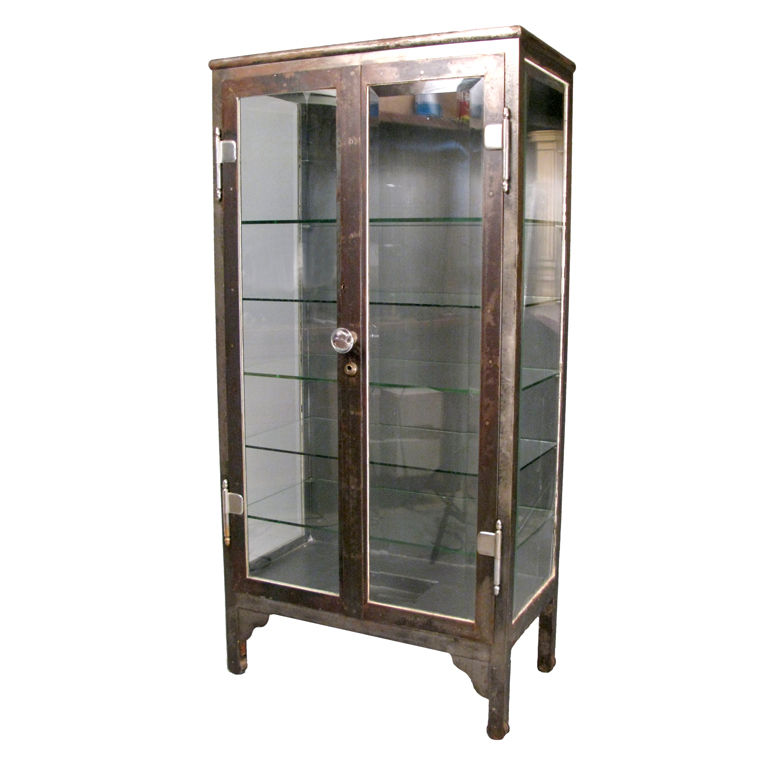 2323f - Salvage77.com » New Items 9/23/2014 - Antique Cabinet - Antique Cabinet Glass Antique Furniture