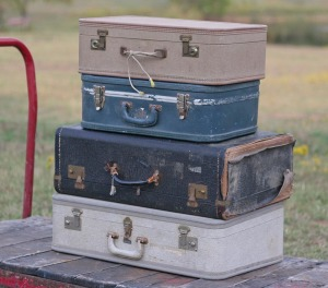 old suitcases lot