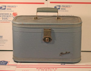 blue travel case