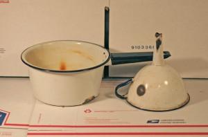 enamelware pot funnel