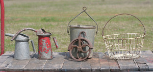 water bucket pulley and basket etc