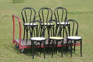6 soda fountain chairs