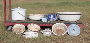 enamel pot lot