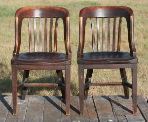 pair of old chairs