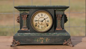 seth thomas green clock front