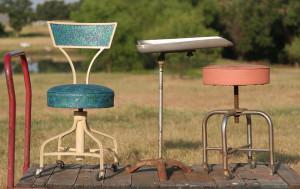 stools and hair washing thing