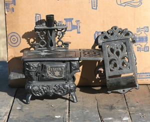cresent cast iron wood stove small