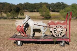 donkey cart birds and pots 01