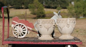 donkey cart birds and pots 02