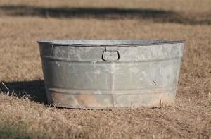 large galvanized tub