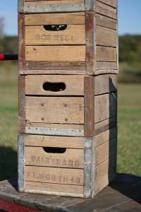 milk crates detail