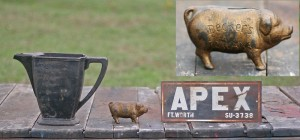 teapot - sign and pig