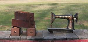 Sewing machine drawers and sewing machine