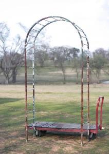 old metal arbor