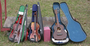 violins and guitar