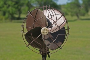 antique pedestal fan front