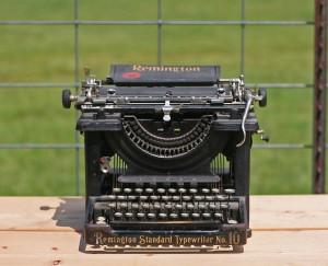 typewriter front